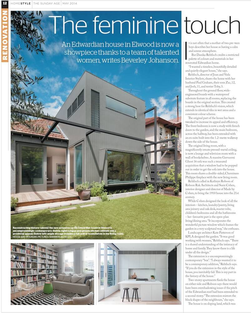 Robson Rak Architects – The Age Magazine